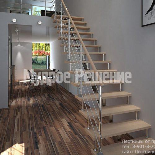 Прямая лестница на монокосуаре
