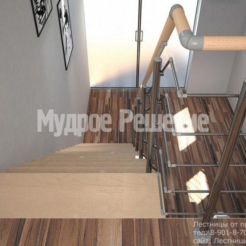 Прямая лестница на монокосуаре 2