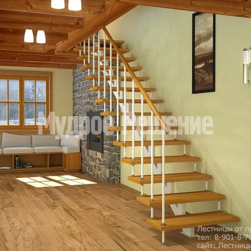 Светлая лестница на монокосуаре