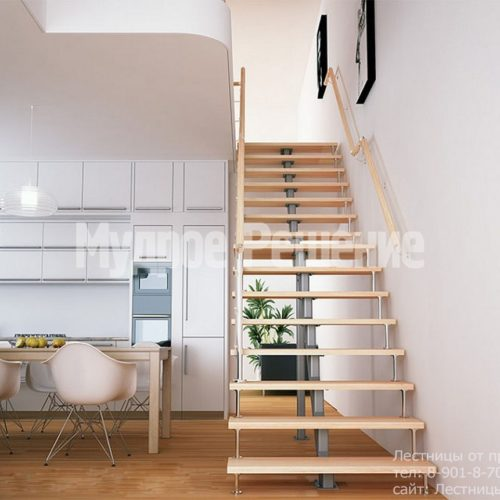 Узкая прямая лестница на монокосуаре 3