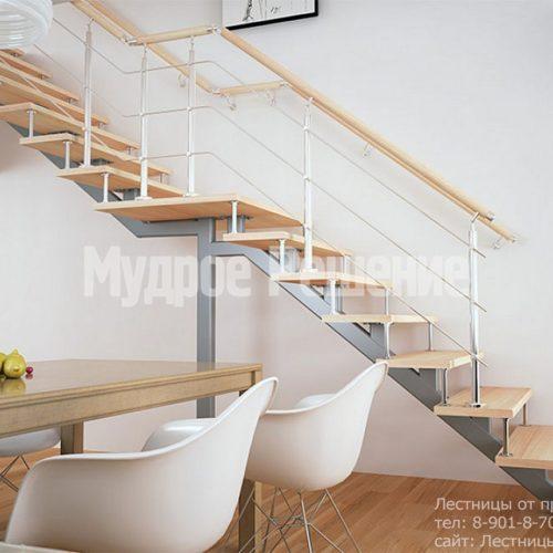 Узкая прямая лестница на монокосуаре 4