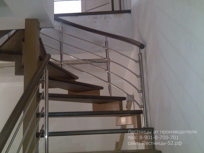 Фото лестницы на металлокаркасе в Чкаловске