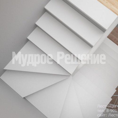 Светлая бетонная лестница 2