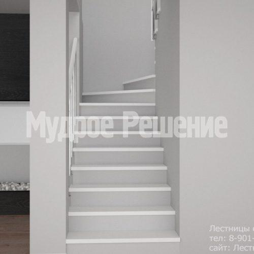 Светлая бетонная лестница 3