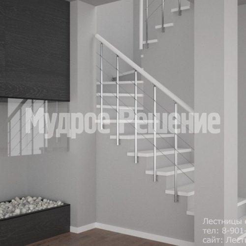 Светлая бетонная лестница