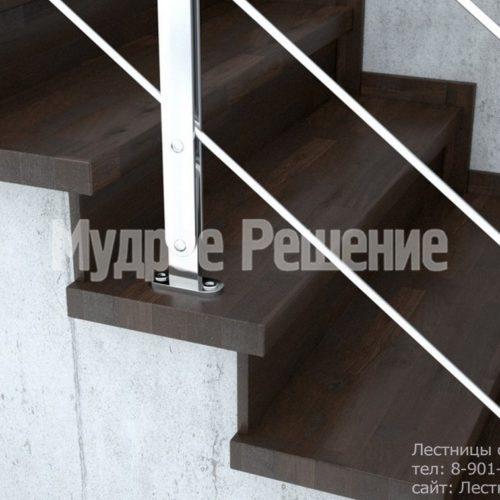 Прямая бетонная лестница 2