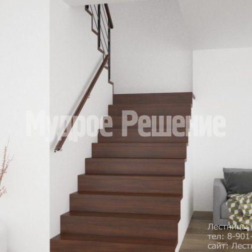 П-образная бетонная лестница 2