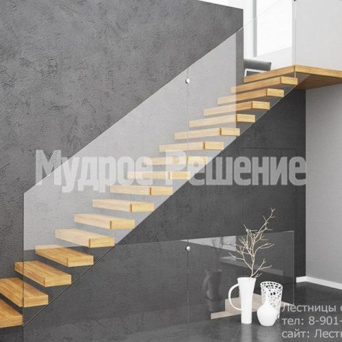Прямая консольная лестница 3