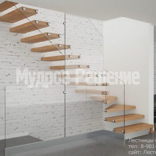 Г-образная консольная лестница 2