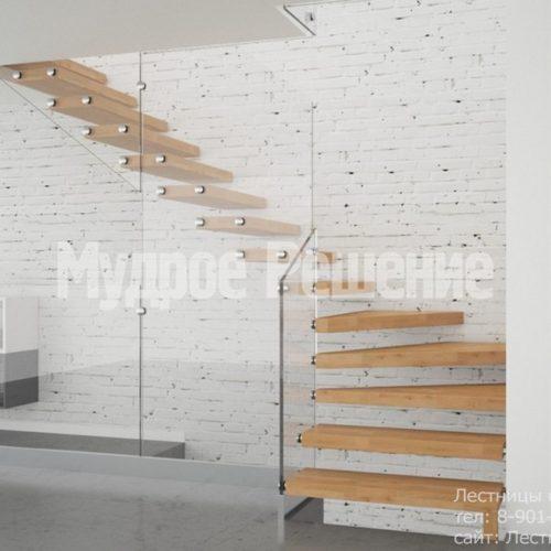Г-образная консольная лестница 3