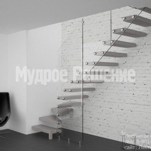 Серая консольная лестница 3