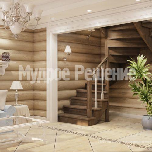Деревянная лестница-1
