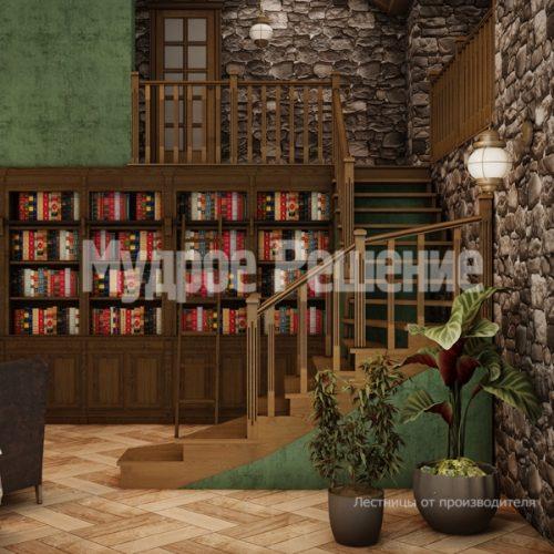 Деревянная лестница-8