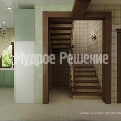 Деревянная лестница-9