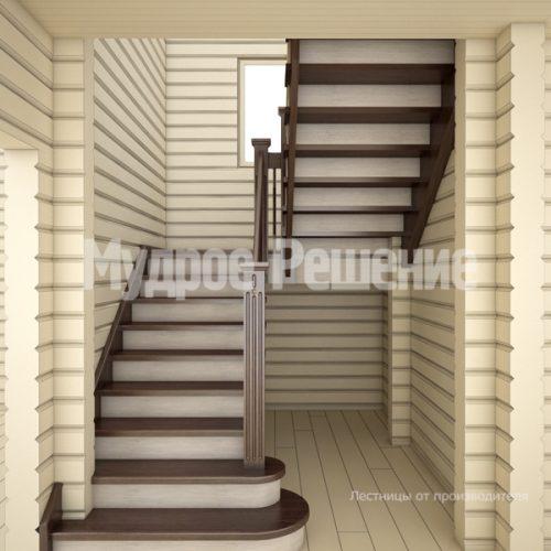 Деревянная лестница-13