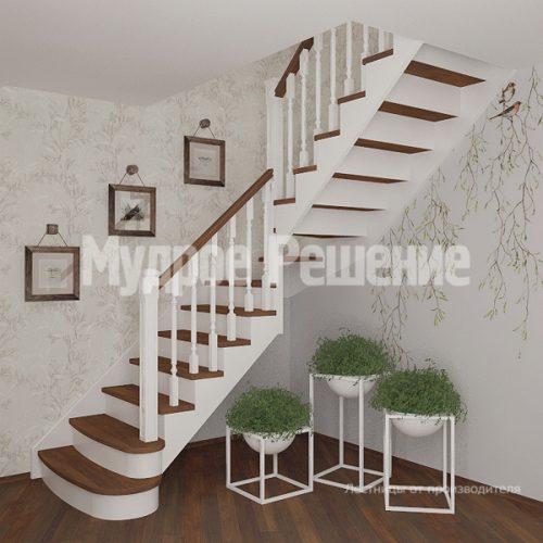 Деревянная лестница-14