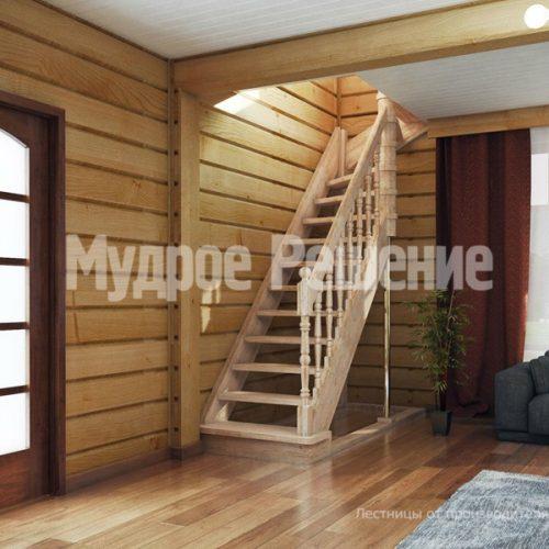 Деревянная лестница-17