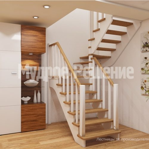 Деревянная лестница-24