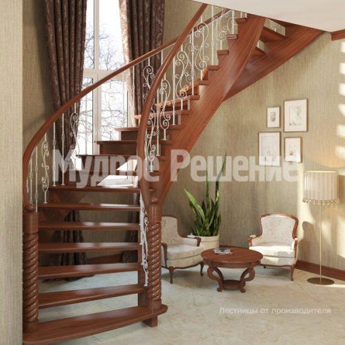 Деревянная лестница-27