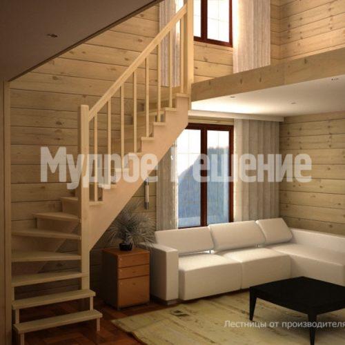 Деревянная лестница-49
