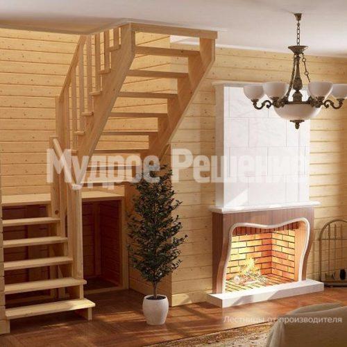 Деревянная лестница-56